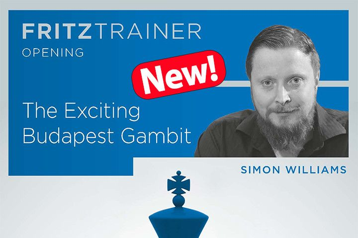 New: Simon Williams - The Exciting Budapest Gambit - ChessBase India