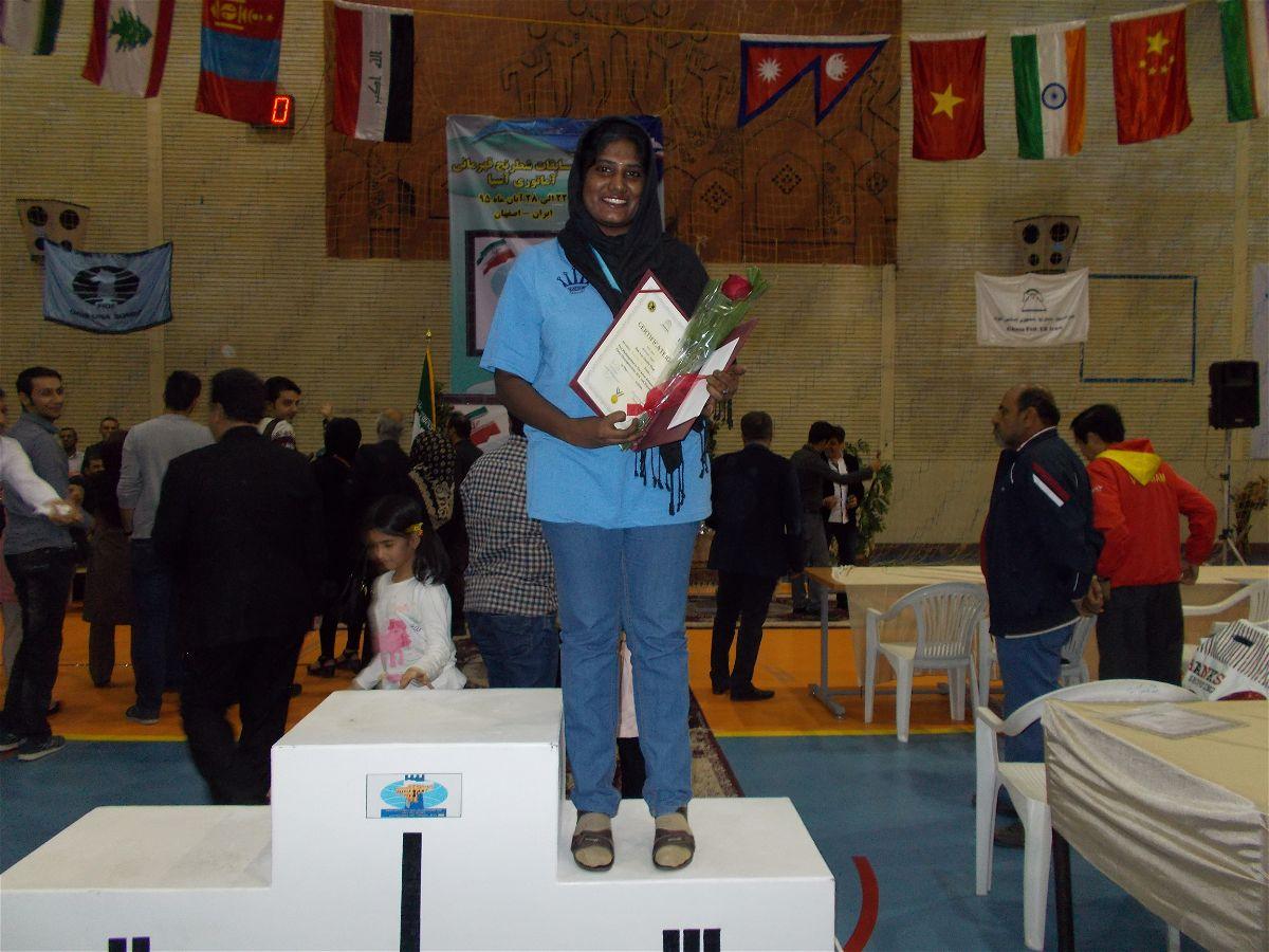 Asian Amateur sandhya wins bronze at asian amateurs - chessbase india